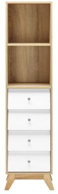 Highboard Enny - Braun/Weiß, MODERN, Holz (40/160/35cm) - MODERN LIVING