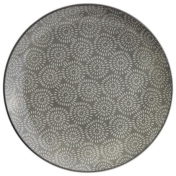 Farfurie Întinsă Nina - gri, ceramică (26,5cm) - Modern Living