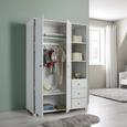 Kleiderschrank Milo - Weiß, MODERN, Holzwerkstoff (115/176/55cm) - Modern Living
