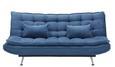 Zofa S Posteljno Funkcijo Cloud - srebrna/temno modra, kovina/tekstil (196/92/98cm) - Mömax modern living