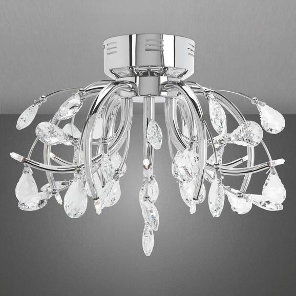 Deckenleuchte Antoinette - Chromfarben, MODERN, Glas/Metall (50/36cm) - PREMIUM LIVING