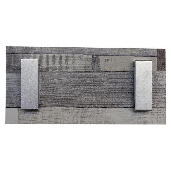 Hakenleiste Max in Grau - Grau, MODERN, Holzwerkstoff (12/25/2cm) - Modern Living