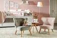 Kindersessel in Rosa - Rosa, ROMANTIK / LANDHAUS, Holz/Textil (50/58/49,5cm) - Modern Living