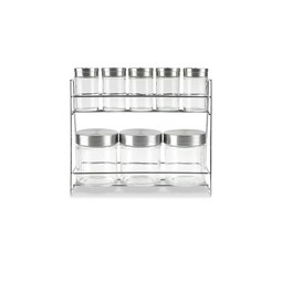 Stojalo Za Začimbe Eleonore -top- - barve nerjavečega jekla/prozorna, Konvencionalno, kovina/steklo (17X/9,2X/22,6cm) - MÖMAX modern living