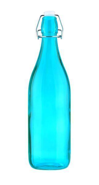 Csatos Üveg Martina - sárga/türkiz, műanyag/üveg (8/31,5cm) - MÖMAX modern living