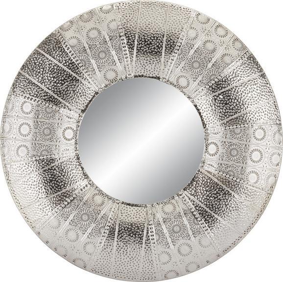 Stensko Ogledalo Cleopatra - srebrna, kovina (80/80/6cm)