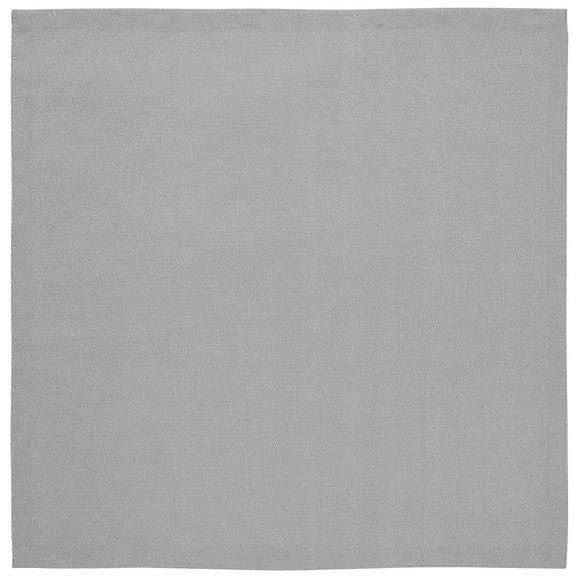 Tischdecke Charlotte in Grau ca.85x85cm - Grau, MODERN, Textil (85/85cm) - Premium Living