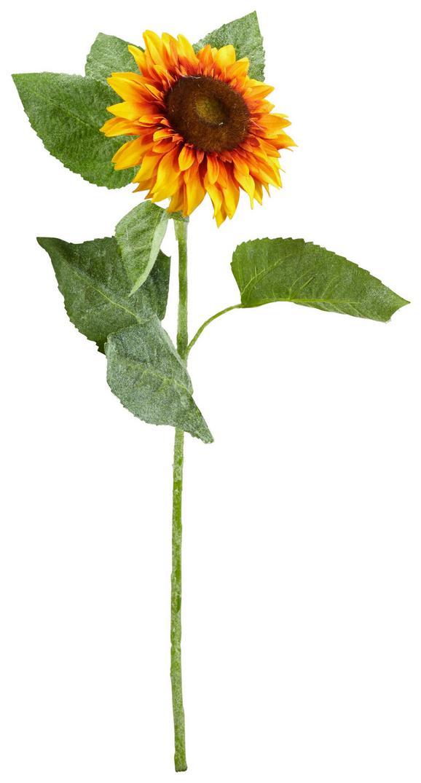 Kunstblume Sunny in Gelb - Gelb/Grün, Kunststoff (12/58cm)