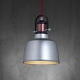 Hängeleuchte max. 40 Watt 'Franka' - Silberfarben, MODERN, Kunststoff/Metall (22/130cm) - Bessagi Home
