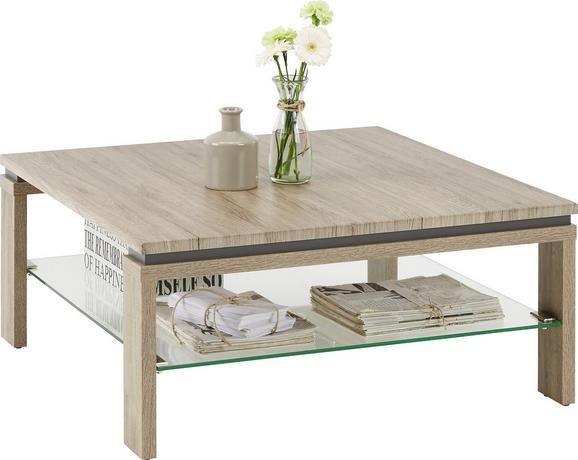 Couchtisch Eiche/Schieferfarben - Schieferfarben/Eichefarben, MODERN, Holz/Holzwerkstoff (90/40/90cm) - Premium Living