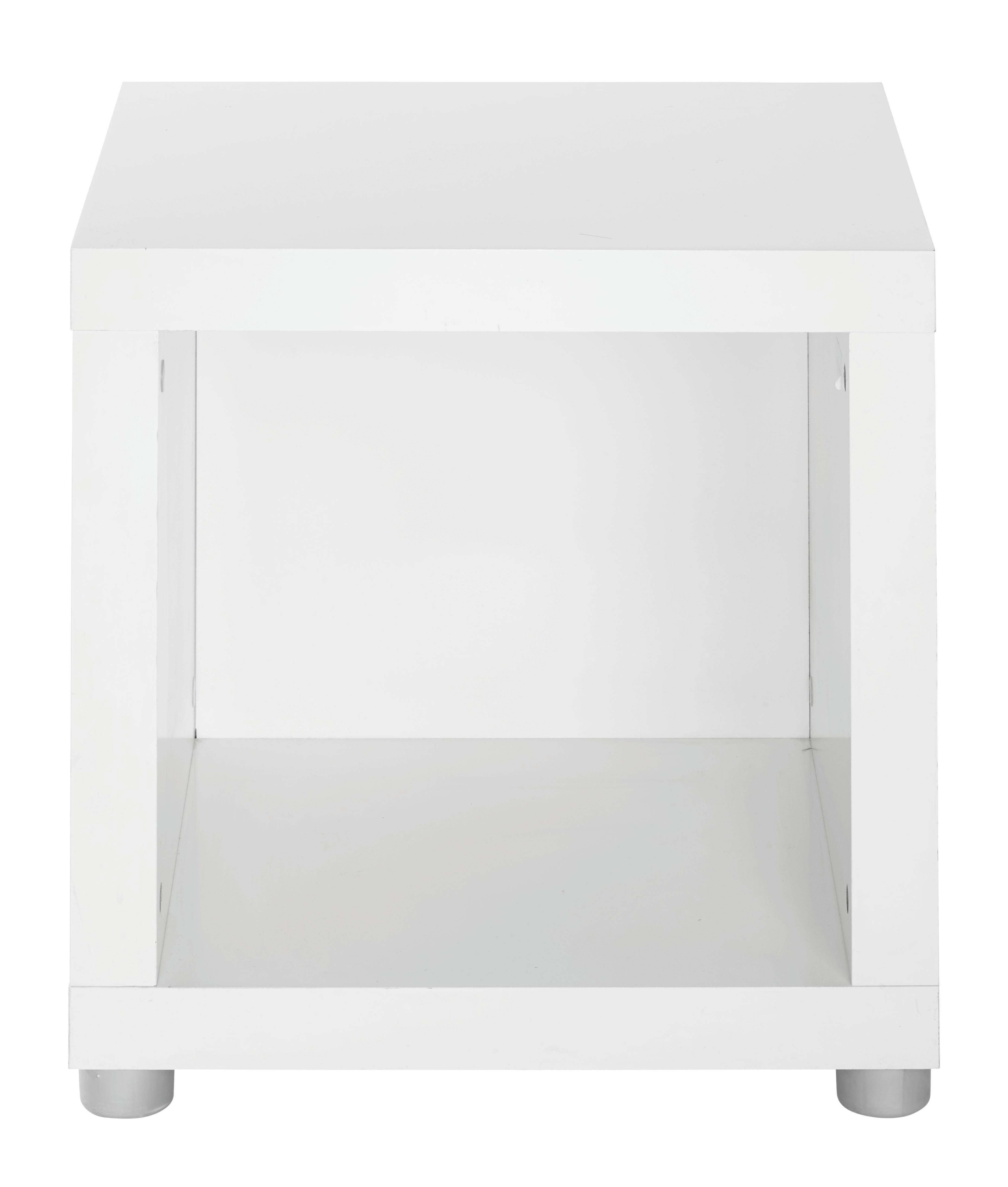 Beistelltisch in Weiß lackiert - (44/46/35cm) - MÖMAX modern living