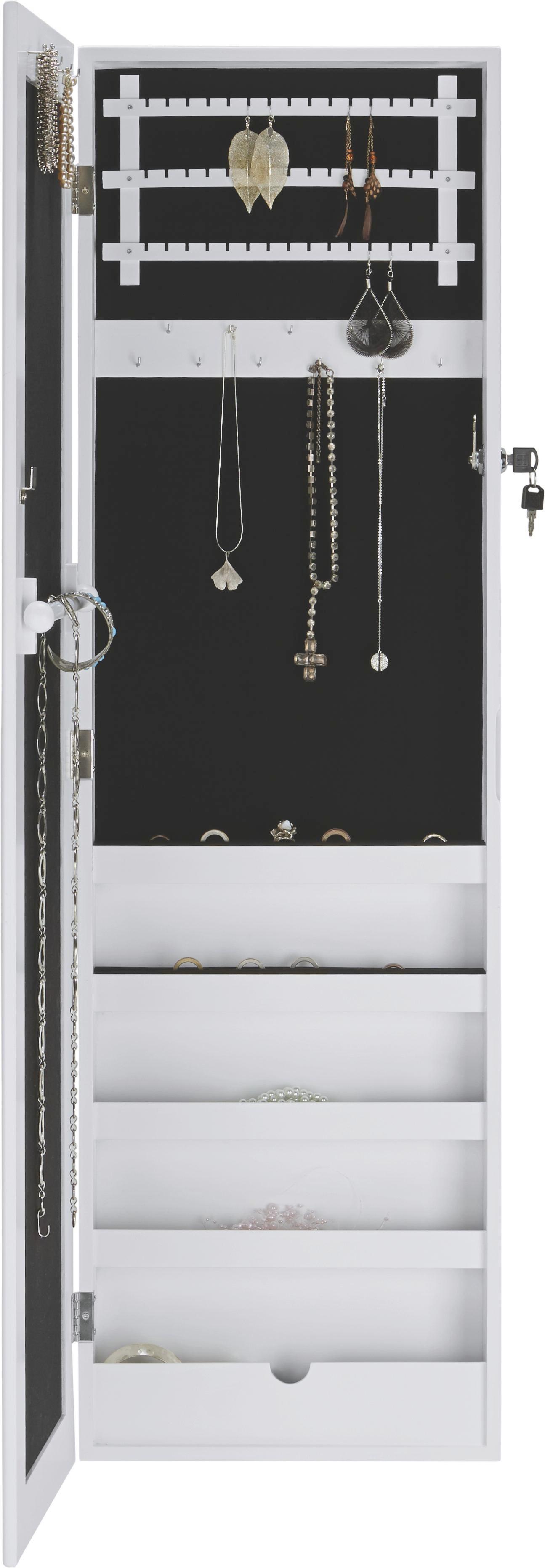 Schmuckspiegelschrank Jewel - Weiß, Glas/Holz (36/120/9,2cm) - MÖMAX modern living