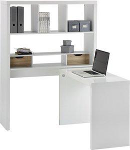 Schreibtisch in WeißEiche online kaufen ➤ mömax