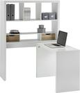 Pisalna Miza Space - bela/hrast, Moderno, leseni material (117,2/156,6/45cm) - Mömax modern living