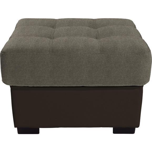 Tabure Burner - svijetlo smeđa/smeđa, Modern, tekstil (65/46/65cm) - Modern Living