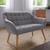 Sofa Monique Zweisitzer - Hellgrau, MODERN, Holz/Textil (127/76/74,5cm) - Bessagi Home