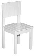 Kinderstuhl in Weiß, ca. 28,5x58,5x29cm - Weiß, ROMANTIK / LANDHAUS, Holz (29/59/29cm) - ZANDIARA