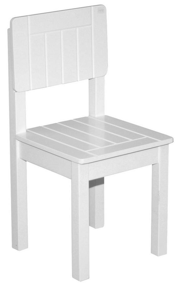Kinderstuhl Weiß,/28,5x58,5x29cm - Weiß, ROMANTIK / LANDHAUS, Holz (29/59/29cm) - Zandiara