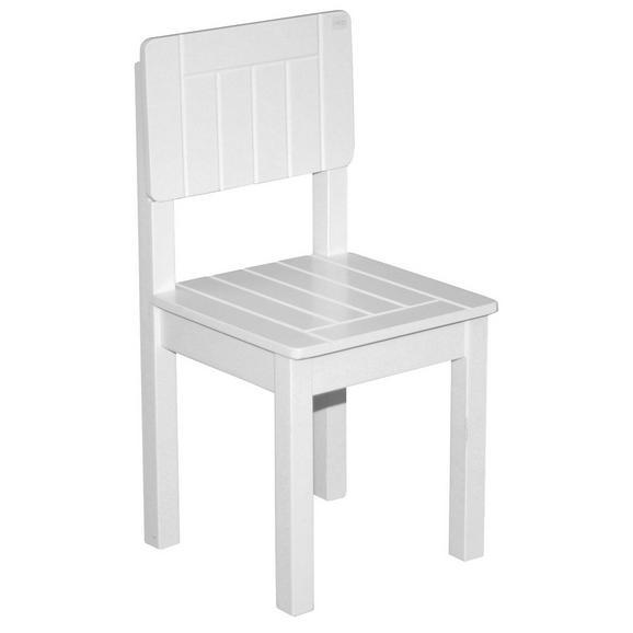 Kinderstuhl Weiß ca. 28,5x58,5x29cm - Weiß, ROMANTIK / LANDHAUS, Holz (29/59/29cm) - Zandiara