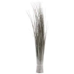Grasbündel Lilli Silberfarben - Silberfarben, Kunststoff (80cm)