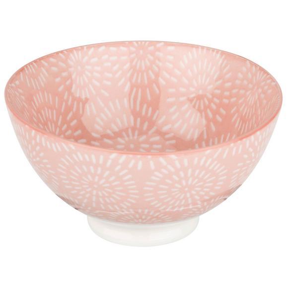 Bol Nina - roz, ceramică (20cm) - Modern Living