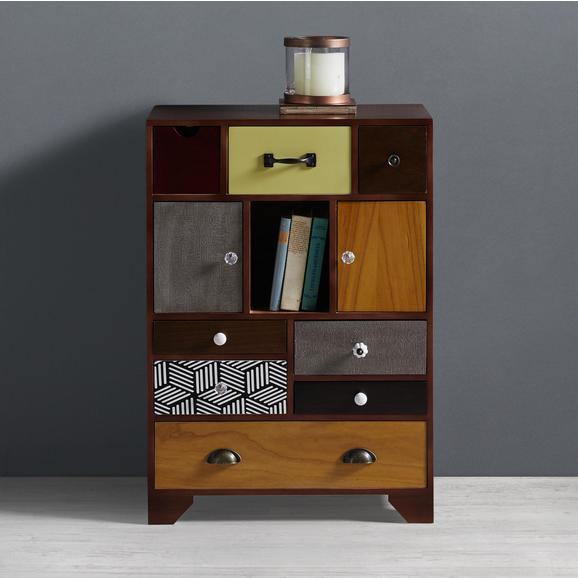 Kommode Heather - Multicolor, MODERN, Holz/Keramik (65/92/38cm) - Bessagi Home