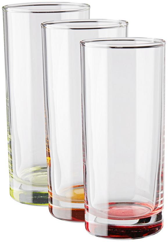 Gläserset Conny, 3-teilig - Blau/Klar, Glas (6/13,8cm) - Mömax modern living