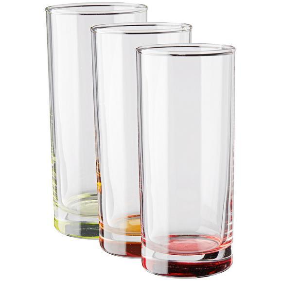 Gläserset Conny 3-teilig - Blau/Klar, Glas (6/13,8cm) - Mömax modern living