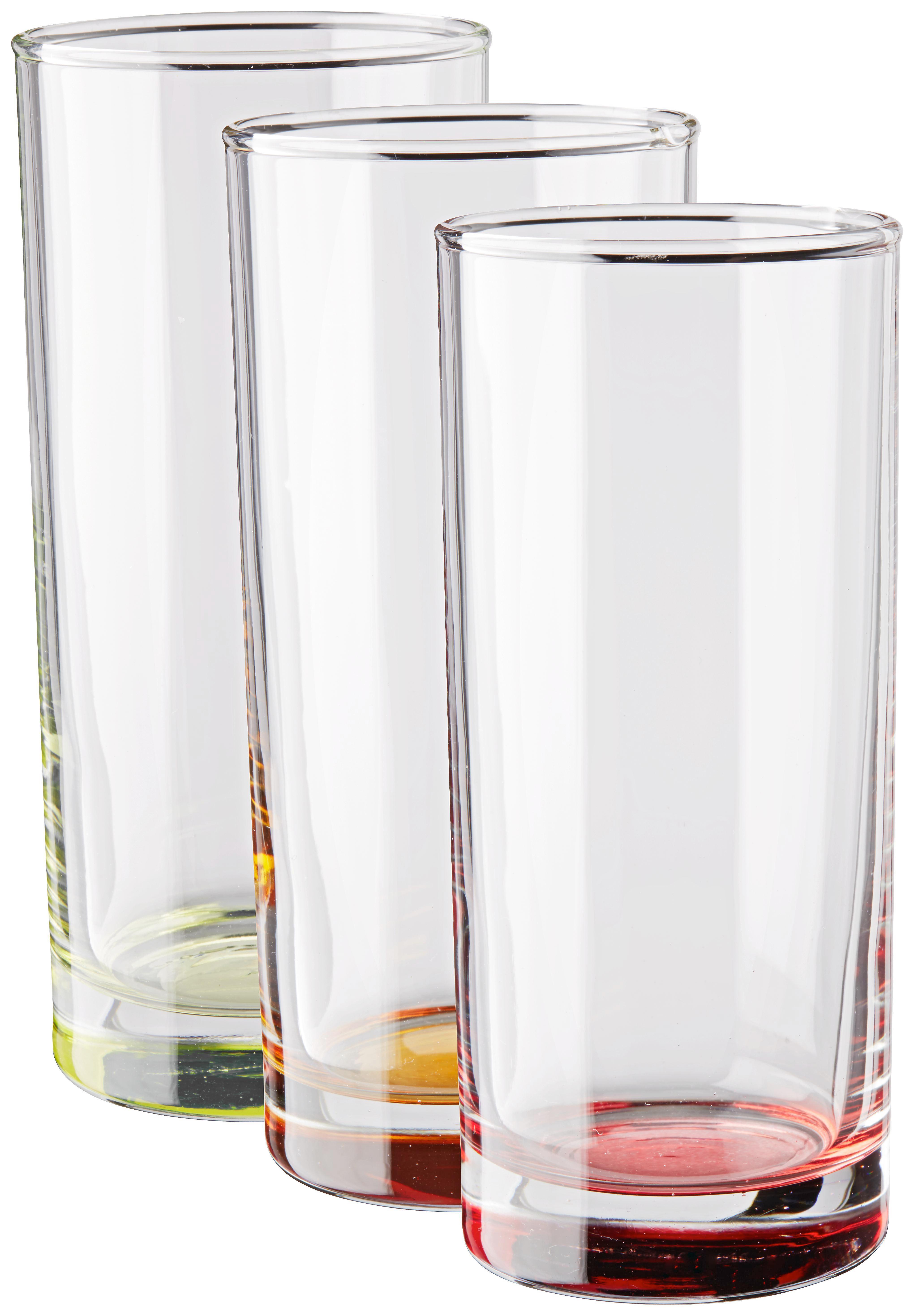 Set Kozarcev Conny - modra/rdeča, steklo (6/13,8cm) - MÖMAX modern living