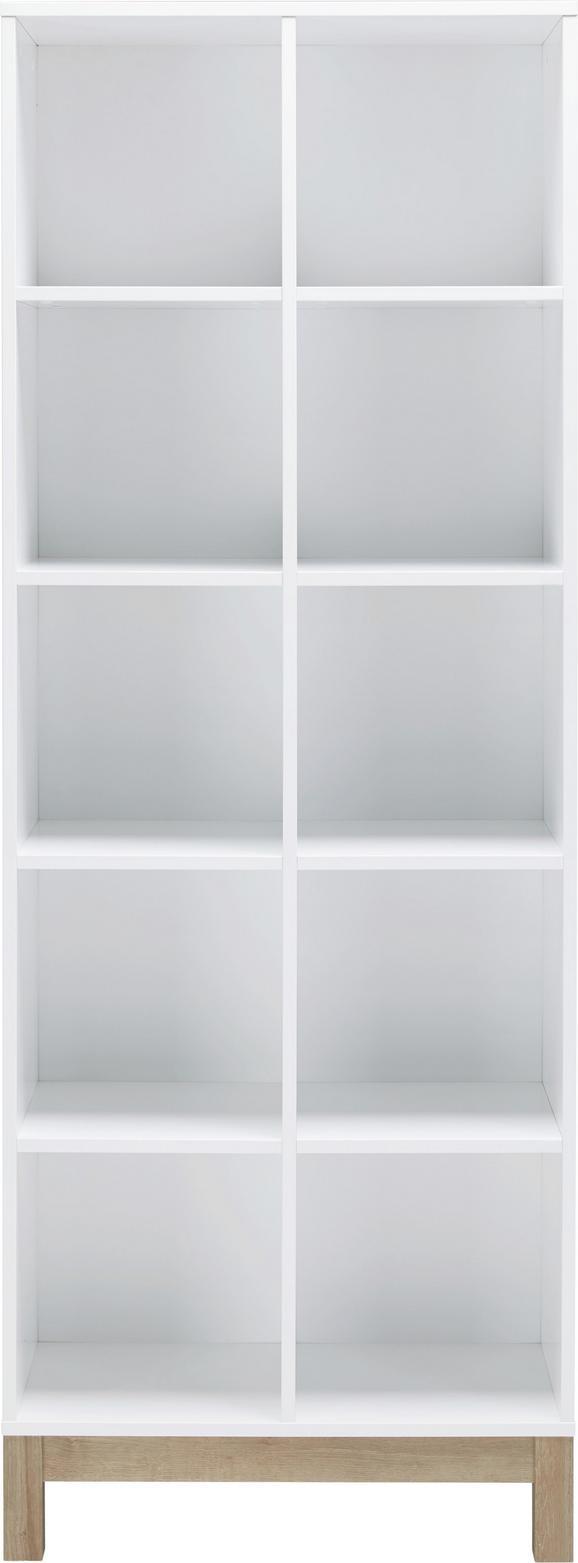 Regal in Weiß/Eichefarben - Eichefarben/Weiß, MODERN, Holzwerkstoff (74/197/36cm) - MÖMAX modern living