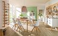 Highboard Natur/Weiß - Naturfarben/Weiß, MODERN, Glas/Holz (100/145/45cm) - ZANDIARA
