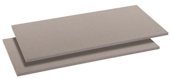 Belső Polc Bert, 2db-os Szett - Szürke, konvencionális, Faalapú anyag (110/50cm)