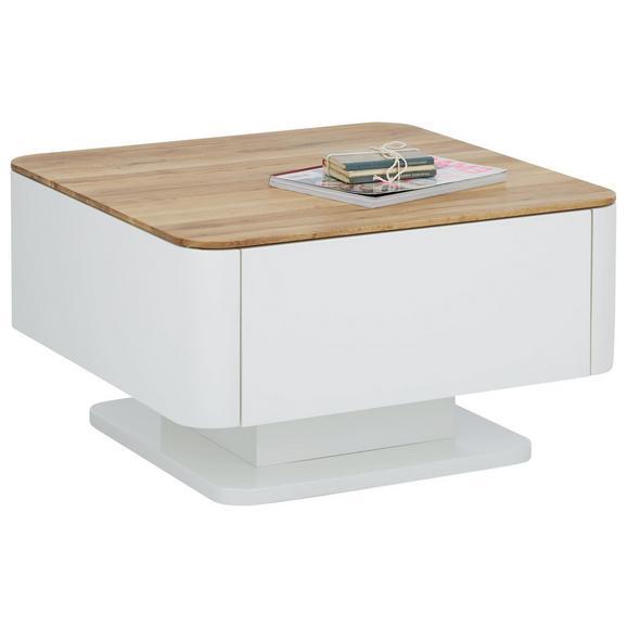 Couchtisch in Weiß/Eichefarben - Eichefarben/Weiß, KONVENTIONELL, Holz/Holzwerkstoff (75/43/75cm) - Modern Living
