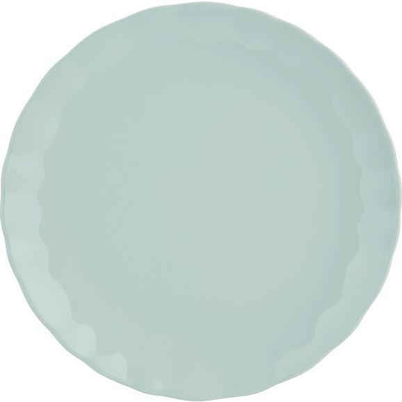 Plitvi Krožnik Pauline - meta zelena, Romantika, keramika (26cm) - Zandiara