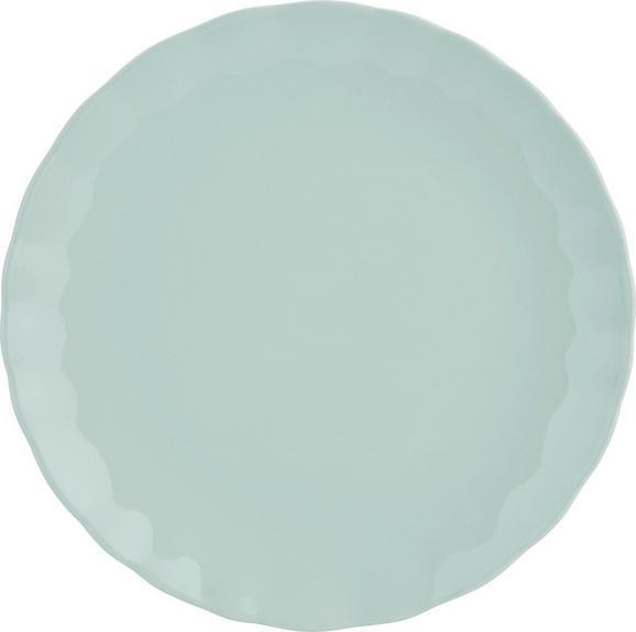 Speiseteller Pauline in Mintgrün - Mintgrün, ROMANTIK / LANDHAUS, Keramik (26cm) - ZANDIARA