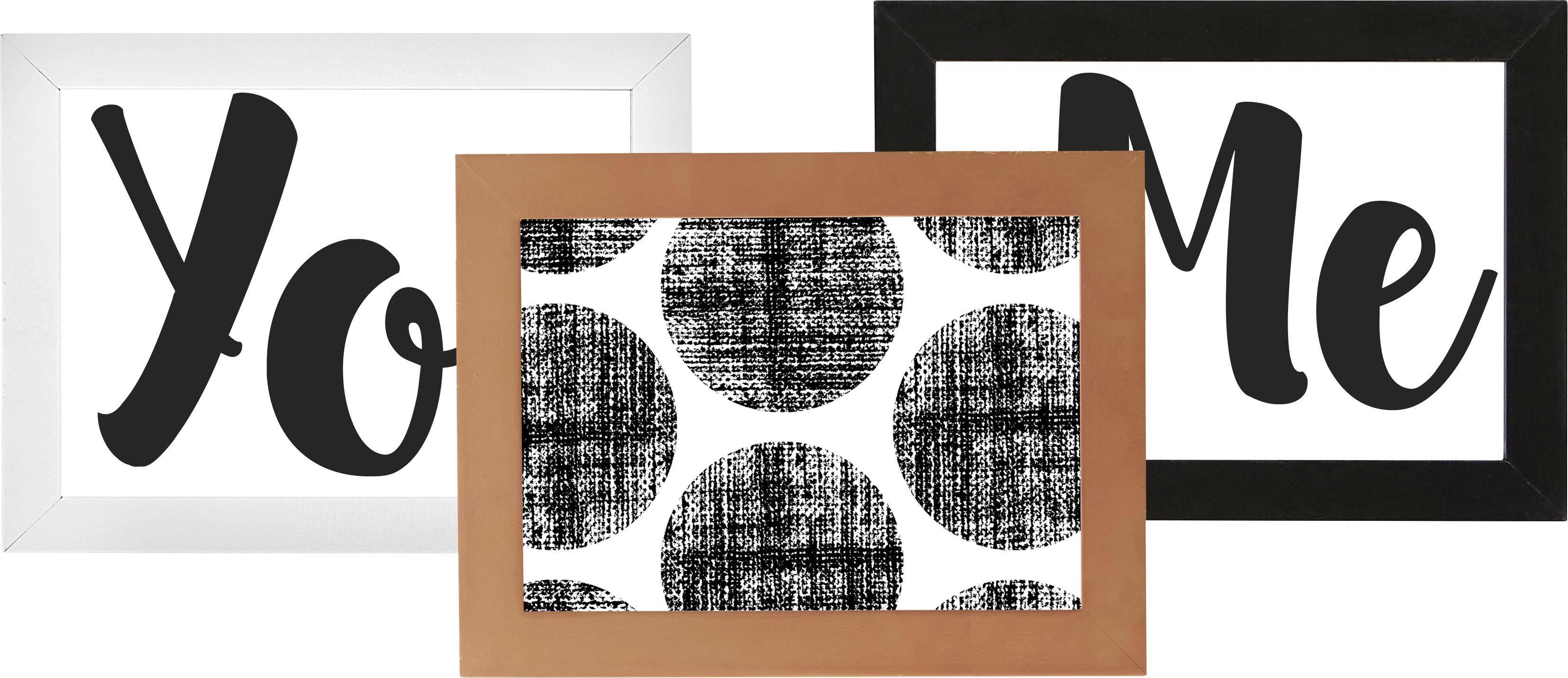 Bilderrahmen Celina ca. 13x18cm - Petrol/Rosa, KONVENTIONELL, Holzwerkstoff/Kunststoff (21,2/16,2/0,935cm) - MÖMAX modern living