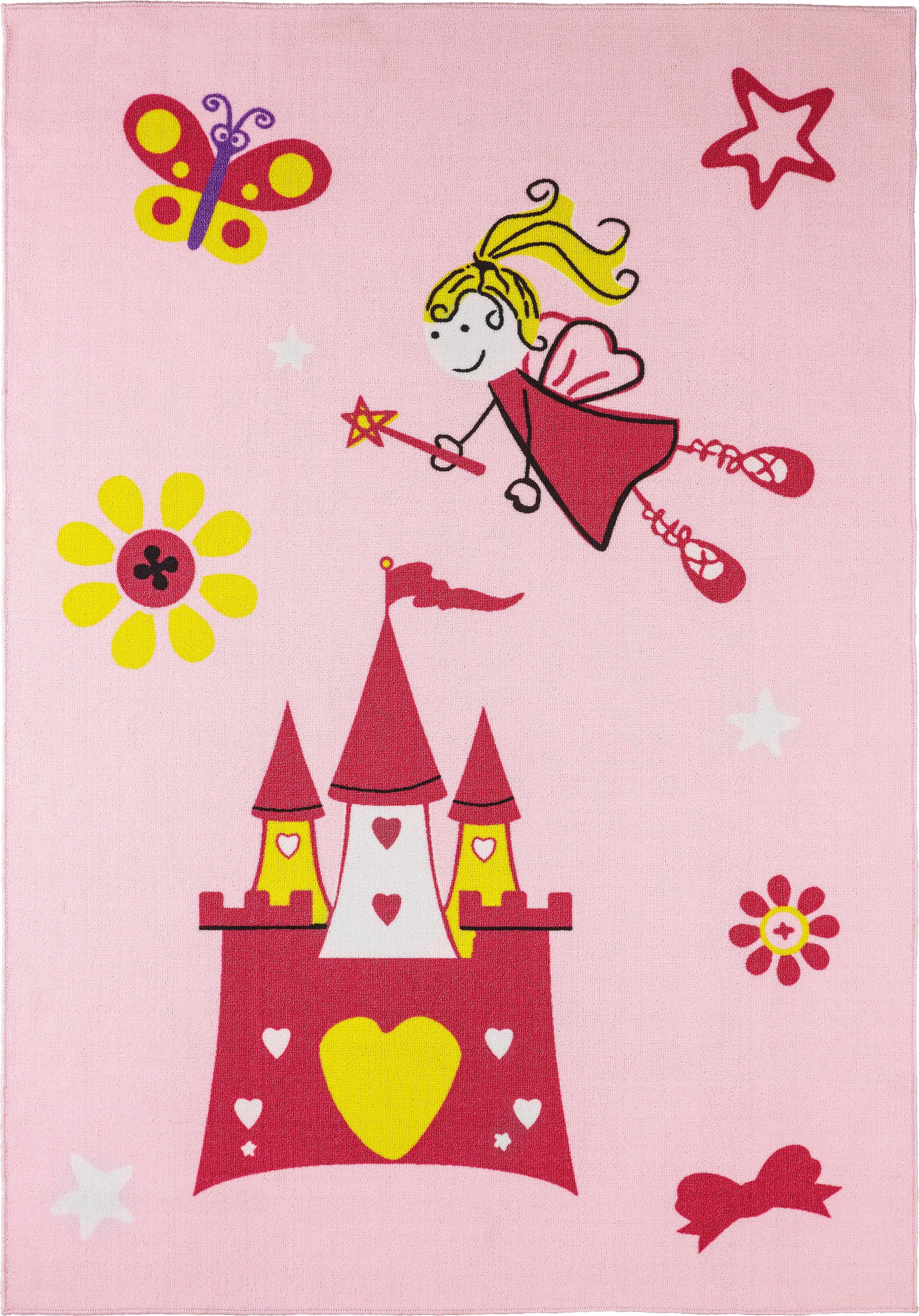 Gyerekszőnyeg Prinzessin - rózsaszín, textil (133/190cm) - MÖMAX modern living