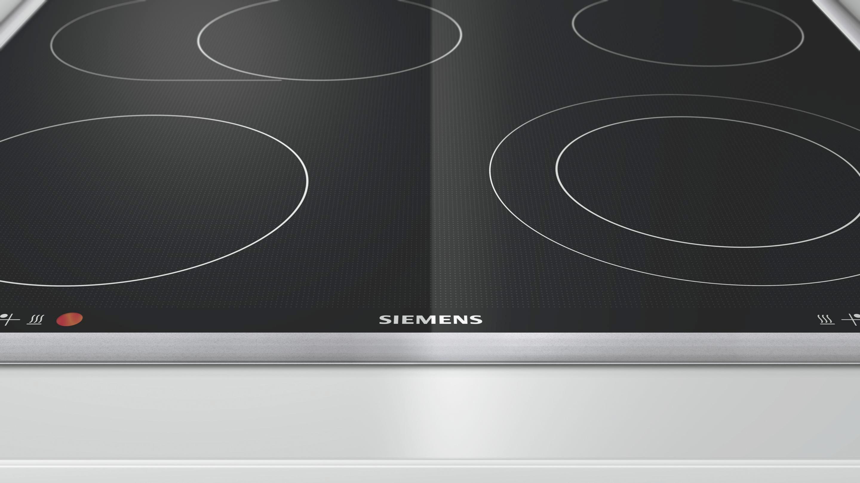 Glaskeramikkochfeld Siemens Ea645gn17, 4 Kochzonen - KONVENTIONELL, Glas/Metall (58,3/4,3/51,3cm) - SIEMENS