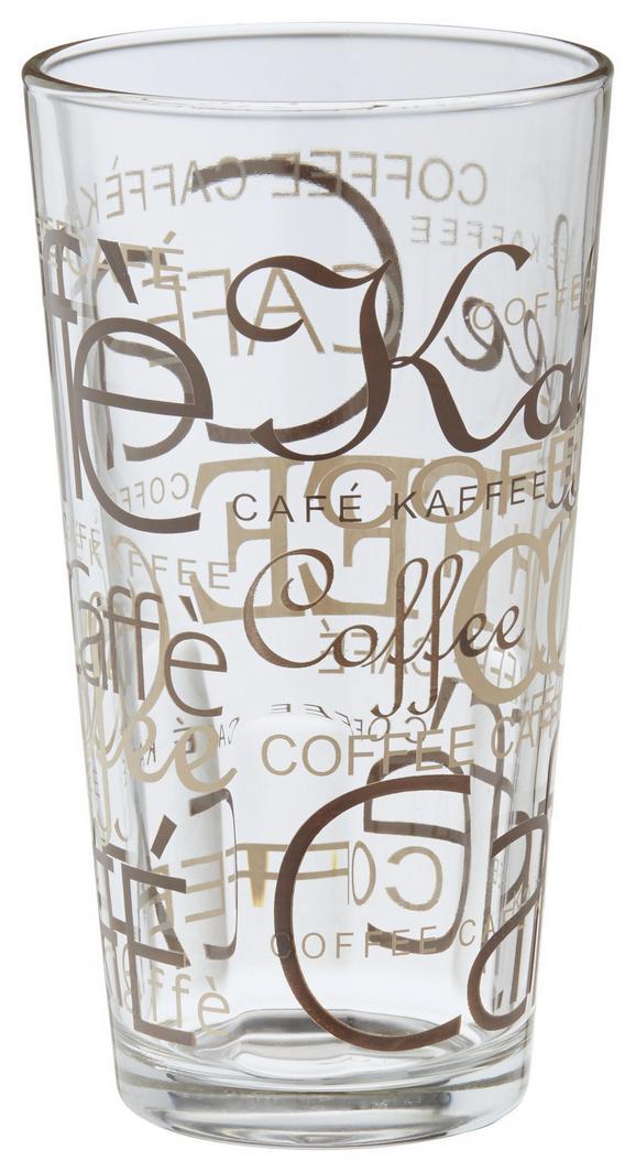 Kaffeeglas Rocco in Glas, ca. 390ml - Klar/Braun, KONVENTIONELL, Glas (0.39l) - MÖMAX modern living