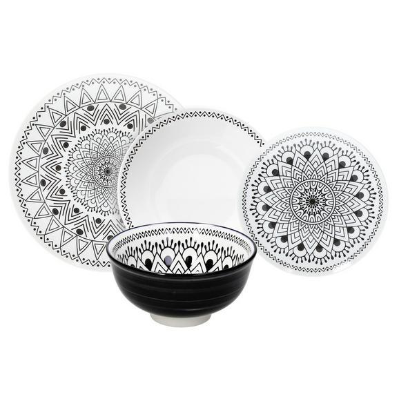 Serviciu De Masă Tribal Chic - alb/negru, Lifestyle, ceramică - Premium Living