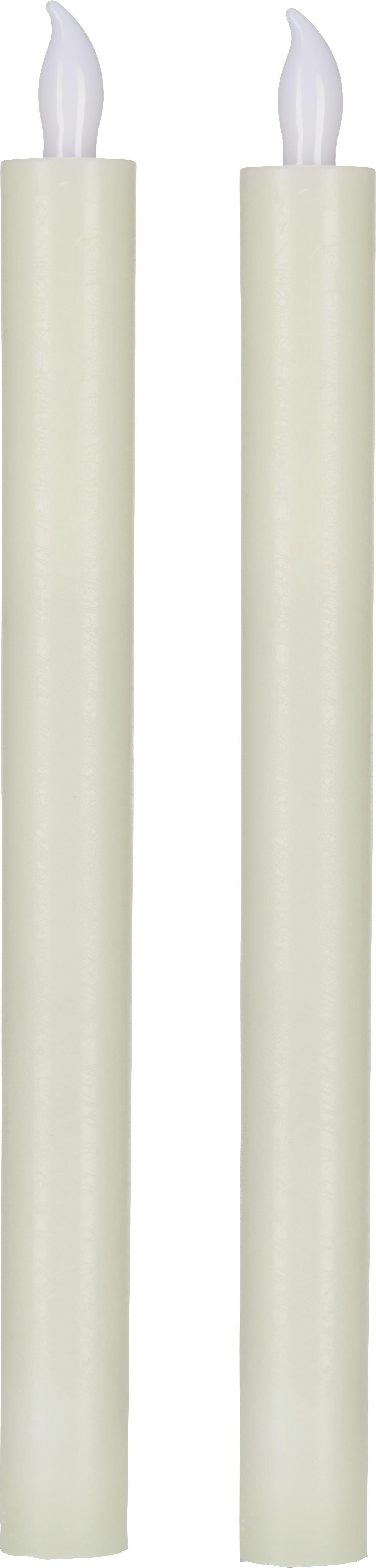 Stabkerze Emma in Creme inkl. Led - Creme (2/24,5cm) - MÖMAX modern living