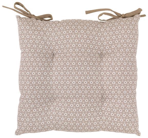 Sedežna Blazina Ameline - sivo rjava, Romantika, tekstil (40/40cm) - Zandiara