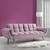 Sofa Clara mit Schlaffunktion - Hellrosa, MODERN, Holz/Textil (214/82/81cm) - Mömax modern living