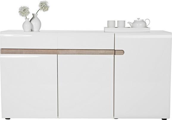 Sideboard Weiß Hochglanz/Trüffel - Trüffeleichefarben/Weiß, MODERN (164/87/42cm) - Mömax modern living