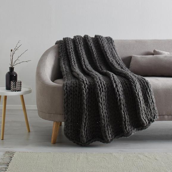 Kuscheldecke Berita ca.127x152cm - Dunkelgrau, Textil (127/152cm) - Mömax modern living