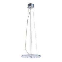 LED-Hängeleuchte max. 20 Watt 'Pablo' - Chromfarben/Weiß, MODERN, Glas/Metall (40/40/120cm) - Bessagi Home