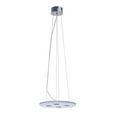 Pendelleuchte Pablo mit LED - Chromfarben/Weiß, MODERN, Glas/Metall (40/40/120cm) - Bessagi Home