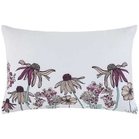 Zierkissen Flowerfield ca. 40x60cm - Weiß, ROMANTIK / LANDHAUS, Textil (40/60cm) - Mömax modern living
