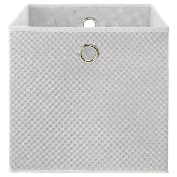 Faltbox Fibi Weiß - Weiß, MODERN, Karton/Textil (30/30/30cm) - Based
