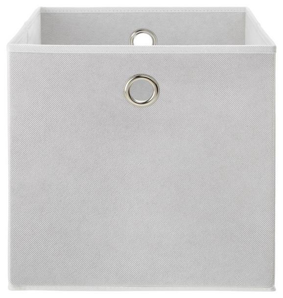 Zložljiv Zaboj Fibi -ext- -top- - bela, Moderno, kovina/karton (30/30/30cm) - Based